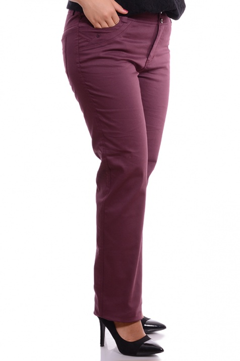 Елегантен макси панталон Марсала снимка 3