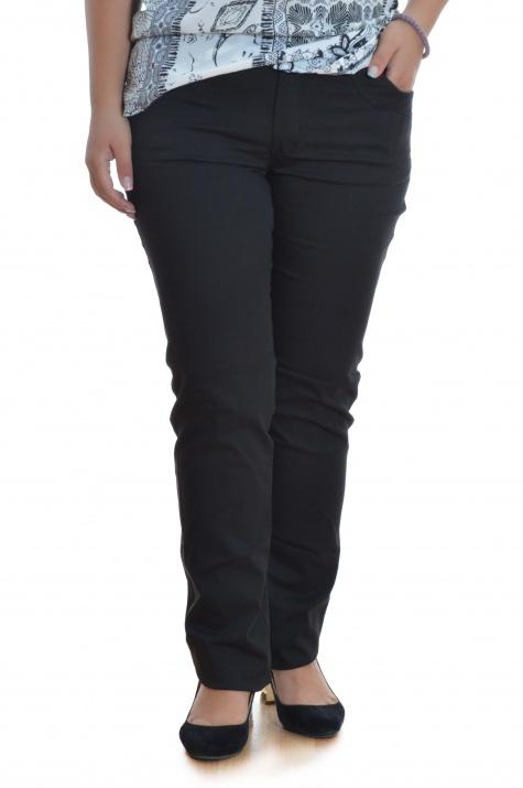 Елегантен макси панталон в черно снимка 3