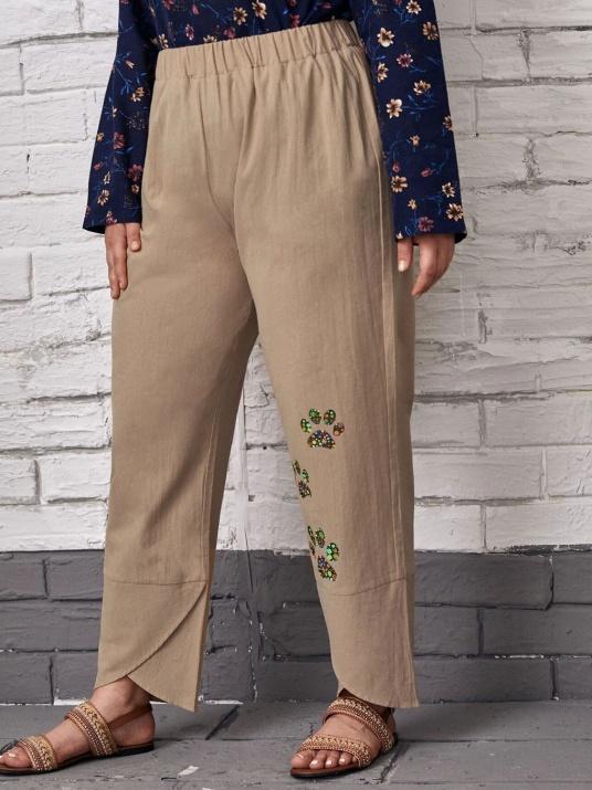 Pantaloni de vară din bumbac DIMENSIUNI MARI