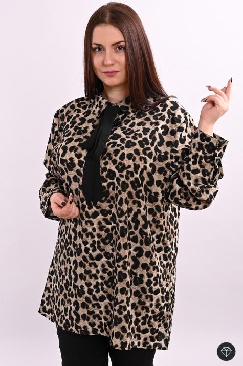 Луксозна дамска блуза в тигров принт снимка 2