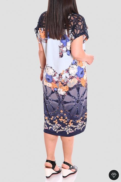 Лятна рокля в интересен принт големи размери N снимка 1