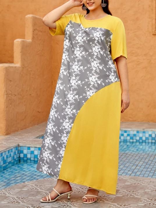 Rochie de vară proaspătă de culoare galbenă