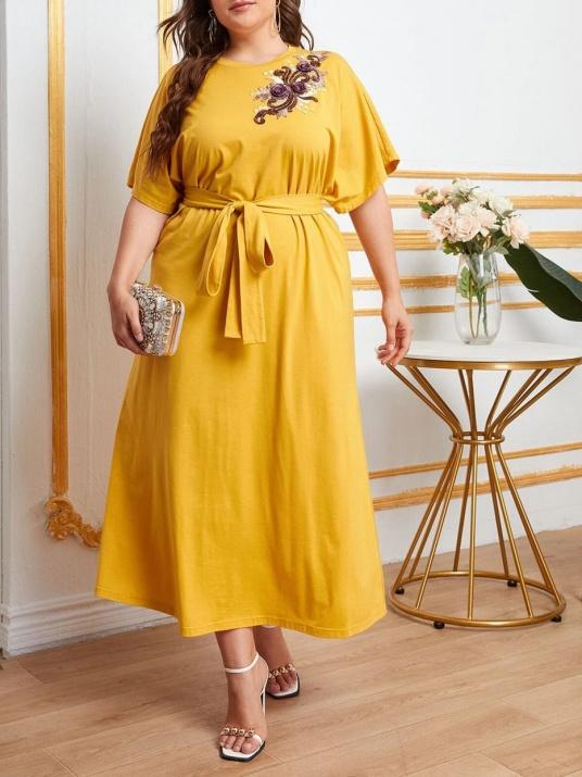 Rochie elegantă de culoare muștar
