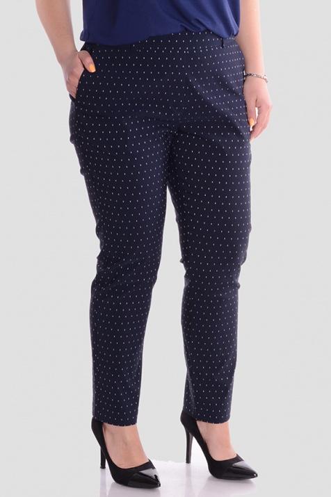 Стилен панталон с ластик в големи размери снимка 1